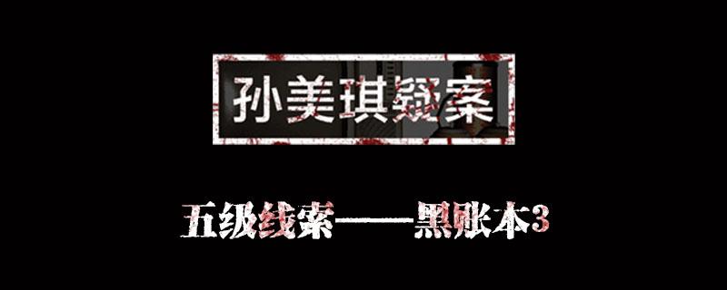 孙美琪疑案金凤凰线索黑账本3位置介绍