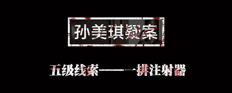 孙美琪疑案金凤凰线索一排注射器位置介绍